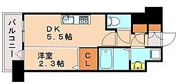 アルファシオリエンソ 5階1DKの間取り