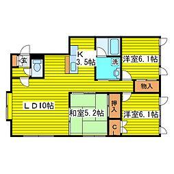 北海道札幌市東区伏古七条5丁目の賃貸アパートの間取り