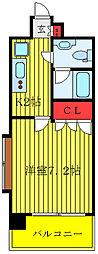 クレイシア新大塚 9階1Kの間取り