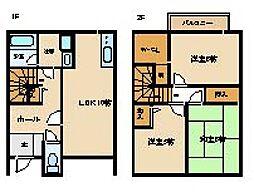[タウンハウス] 大阪府阪南市和泉鳥取 の賃貸【/】の間取り