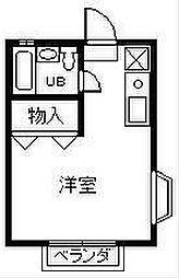 フィールド中田[101号室]の間取り