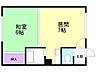 間取り,1DK,面積28.76m2,賃料2.5万円,札幌市営南北線 中の島駅 徒歩11分,札幌市営南北線 南平岸駅 徒歩19分,北海道札幌市豊平区中の島二条5丁目2番4号