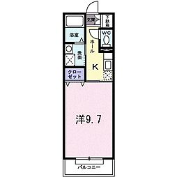 DearPlace氷川台[1階]の間取り