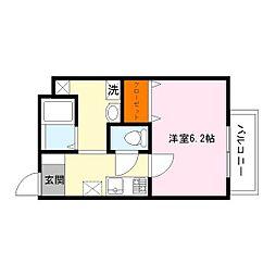 アームスコート若江岩田[2階]の間取り
