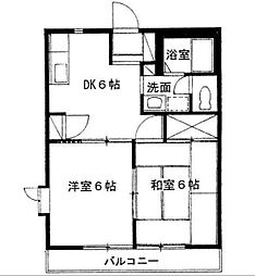 神奈川県藤沢市弥勒寺3丁目の賃貸アパートの間取り