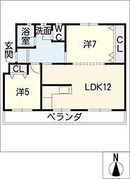 鍋屋上野住宅7棟403号[4階]の間取り