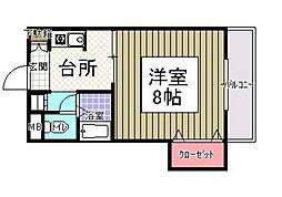サンシャイン田代2[213号室]の間取り