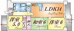 兵庫県神戸市北区緑町7丁目の賃貸マンションの間取り