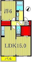 クレストパークD棟[2階]の間取り