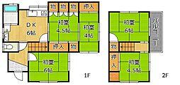 [一戸建] 福岡県北九州市小倉北区熊谷1丁目 の賃貸【/】の間取り