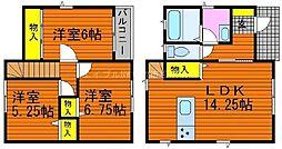 [一戸建] 岡山県倉敷市田ノ上丁目なし の賃貸【/】の間取り