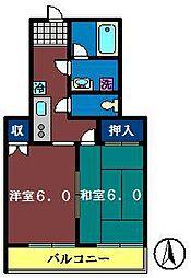 船橋プレイス[402号室]の間取り