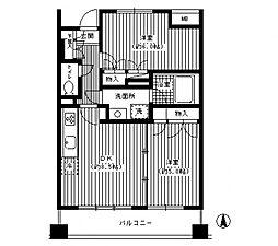 QueensCoat鷺沼[3階]の間取り