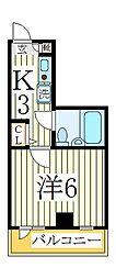 コーポ姫宮[2階]の間取り