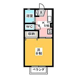 アルカディアFUJI[2階]の間取り