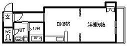 ニューフロンティア永山 3階1DKの間取り