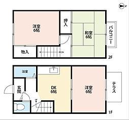 [テラスハウス] 福岡県北九州市小倉南区長尾6丁目 の賃貸【/】の間取り