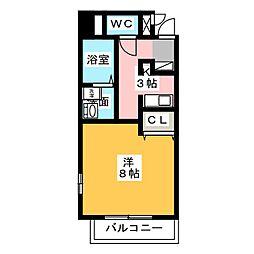 ヴェルデ鳴海[6階]の間取り