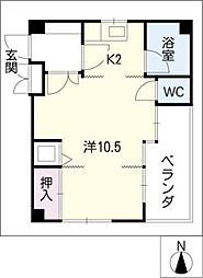 メゾンレーヴ[4階]の間取り