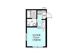 神奈川県横浜市南区高根町2丁目の賃貸アパートの間取り