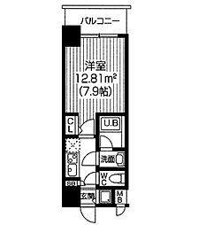S−RESIDENCE福島Luxe[1512号室]の間取り
