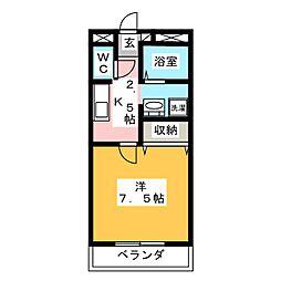 レジデンス青江[1階]の間取り