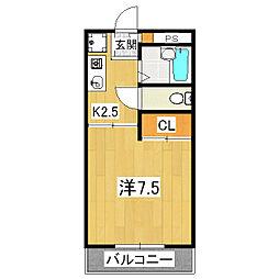 メゾン林II[1階]の間取り