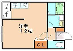 福岡県飯塚市幸袋の賃貸マンションの間取り