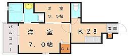 カーサロッソ[1階]の間取り