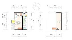 福岡市地下鉄箱崎線 箱崎宮前駅 徒歩13分の賃貸アパート 2階1Kの間取り