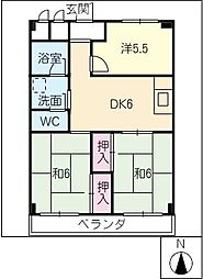 太平コーポラスI[4階]の間取り