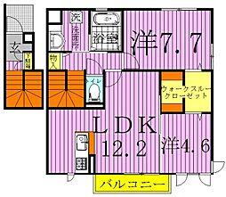 [テラスハウス] 千葉県柏市小青田3丁目 の賃貸【/】の間取り