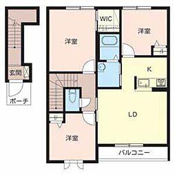 シャーメゾン田井[2階]の間取り