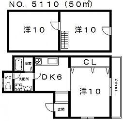 クレインズマンションアベノ[4階]の間取り