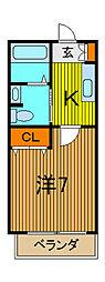 エスポワール戸田[2階]の間取り