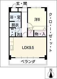 ラ・フィーネヤマセ[2階]の間取り
