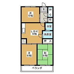 マノワール・ナガセ[3階]の間取り