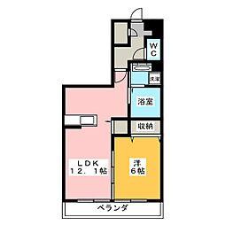 仮)アメニティー菖蒲沢アパート 1階1LDKの間取り