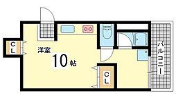 兵庫県神戸市中央区小野柄通3丁目の賃貸アパートの間取り