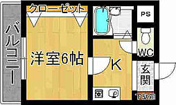 奈良県奈良市杉ヶ町の賃貸マンションの間取り