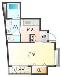 メゾン バニーNO・3[2階]の間取り