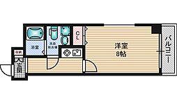 第2クリスタルハイム新大阪[3階]の間取り