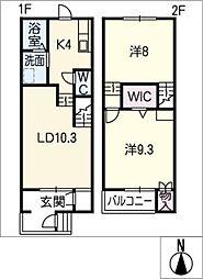 [タウンハウス] 愛知県清須市清洲田中町 の賃貸【/】の間取り