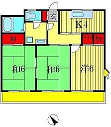 キャビン88[305号室]の間取り