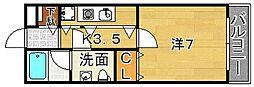 アトライズ片山[201号室]の間取り
