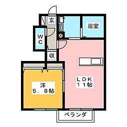 ルナール.B[1階]の間取り