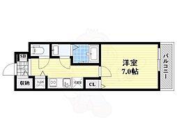 阪急千里線 豊津駅 徒歩2分の賃貸アパート 1階1Kの間取り