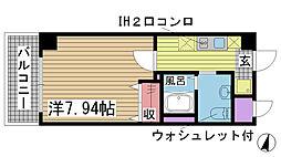 ラ・フォンテ神戸長田[1005号室]の間取り