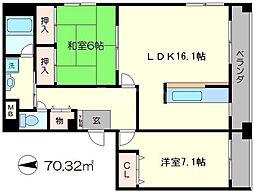 ビラ妙松館[1階]の間取り