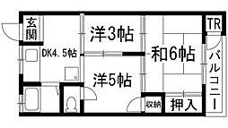 待兼山荘[2階]の間取り